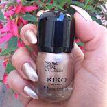 Kiko Pastel metal nail lacquer 02 golden sand
