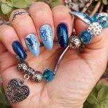 Nail art water decals fiore e farfalla molto semplice