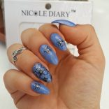 Flowers nail art with water decals Nicole Diary