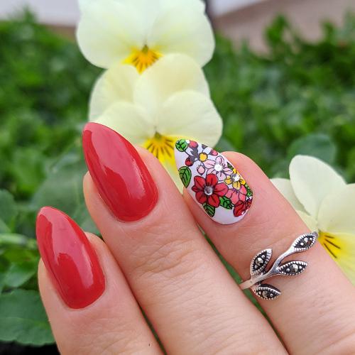 Kiko Perfect Gel Duo nail lacquer + Top coat nail art