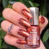 Mavala Quebec e stamping nail art ghirigori
