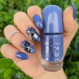 Essence Shine Last and Go 63 Genie in a bottle e nail art Halloween
