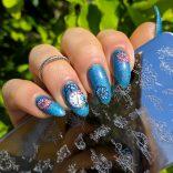 Smalto Melissa Professional Cascata e stamping plate Nicole Diary